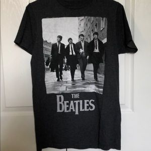 The Beatles Tops - beatles grey/black and white tee